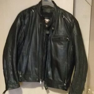 Leather Harley Davidson riding jacket